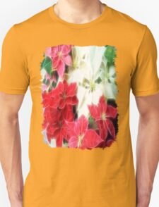 Mixed color Poinsettias 1 Angelic Unisex T-Shirt