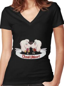 Nose Heart! <3 Women's Fitted V-Neck T-Shirt