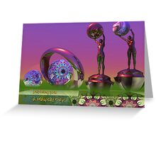 Magical card with Alien women and Text card Greeting Card