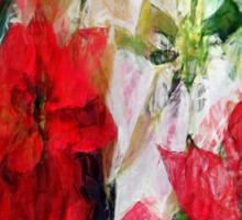 Mixed color Poinsettias 1 Sketchy Sticker