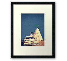 Eat and Sleep in a Wigwam Framed Print