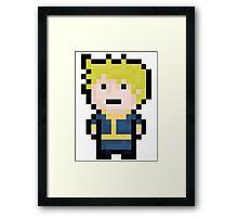 8-Bit Pixel Vault Boy Framed Print