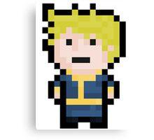 8-Bit Pixel Vault Boy Canvas Print