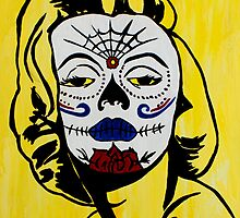 Marilyn Monroe Sugar Skull by AMorrisonART