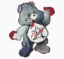 Zombie Bear has a one track mind Kids Clothes