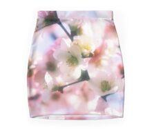 Beautiful White Pink Sakura Cherry Blossoms in Spring Mini Skirt