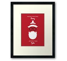 Santa - Before it was Yule Framed Print