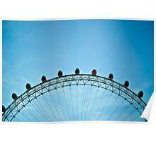 London Eye shape Poster