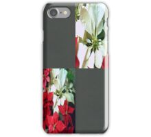 Mixed color Poinsettias 1 Blank Q6F0 iPhone Case/Skin