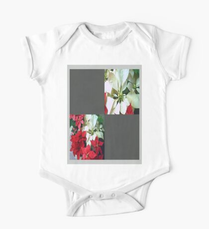Mixed color Poinsettias 1 Blank Q6F0 One Piece - Short Sleeve