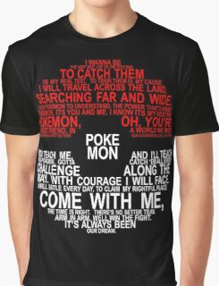 Pokemon Typhography Quotes Graphic T-Shirt