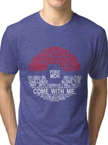 Pokemon Typhography Quotes Tri-blend T-Shirt