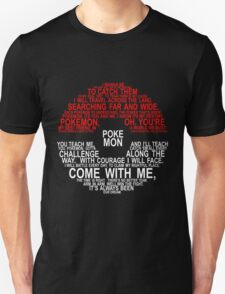 Pokemon Typhography Quotes T-Shirt