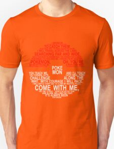 Pokemon Typhography Quotes Unisex T-Shirt