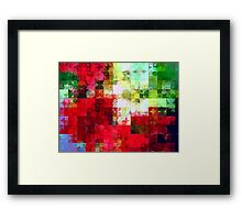 Mixed color Poinsettias 1 Abstract Circles 2 Framed Print