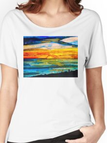 Sunset at the Beach. Women's Relaxed Fit T-Shirt