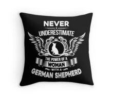German Shepherd Mama Throw Pillow