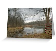 Red Gate In The Rain Greeting Card