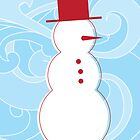 Snowman Christmas Card by christymcnutt