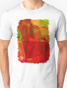 Mixed color Poinsettias 1 Abstract Polygons 3 T-Shirt
