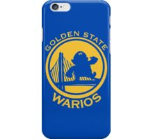 GOLDEN STATE WARIOS iPhone Case/Skin