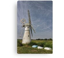 Thurne Dyke Mill and Boats Canvas Print