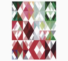 Mixed color Poinsettias 1 Abstract Triangles 1 Kids Tee