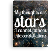 The Fault in Our Stars - My Thoughts #2 Canvas Print