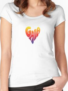 Gaia Heart 3 Women's Fitted Scoop T-Shirt
