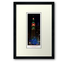 The Clock Tower at Christmas - Denver, Colorado Framed Print