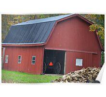 Amish Barn Poster
