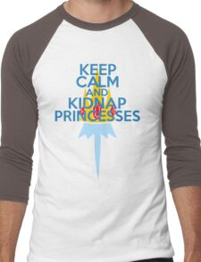 Keep Calm and Kidnap Princesses  Men's Baseball ¾ T-Shirt
