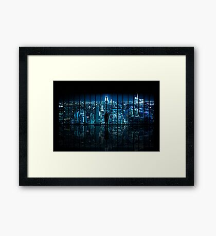 Window to Gotham City Framed Print