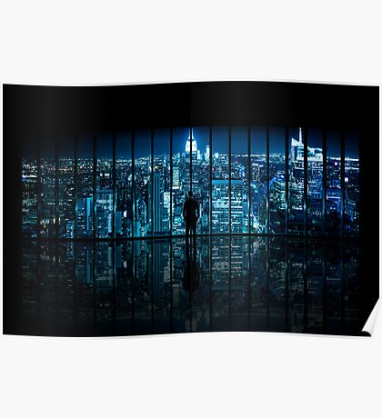 Window to Gotham City Poster