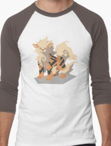Cutout Arcanine Men's Baseball ¾ T-Shirt
