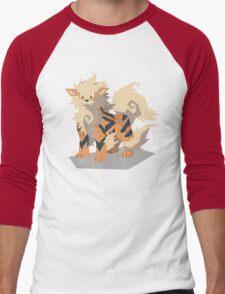 Cutout Arcanine Men's Baseball ¾ T-Shirt
