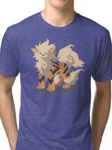 Cutout Arcanine Tri-blend T-Shirt