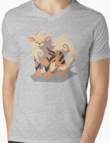 Cutout Arcanine Mens V-Neck T-Shirt