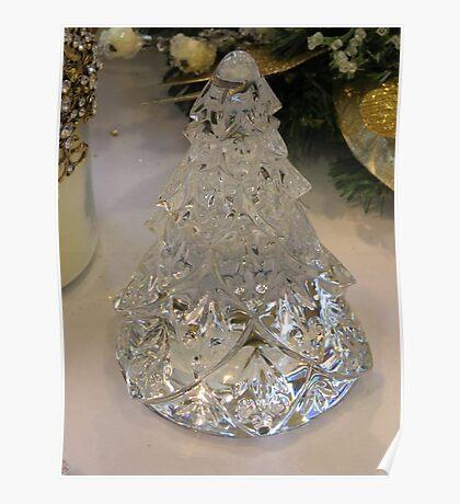 Crystal Glass Christmas Tree Poster