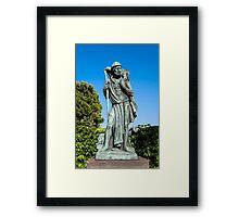 Statue of the Good Sheperd. Framed Print