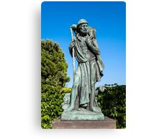 Statue of the Good Sheperd. Canvas Print
