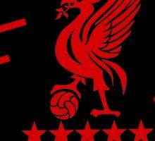 Liverpool Liver Bird Red Black Sticker