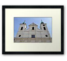 Church of the Holy Cross in Rzeszów, Poland. Framed Print