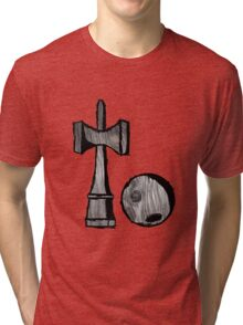 Grey Woodgrain Kendama Tri-blend T-Shirt