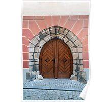 Gothic door. Poster