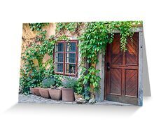 Old house facade. Greeting Card