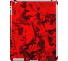 Bones with Skull on Top in Red iPad Case/Skin