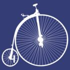 Bike Penny Farthing White (Big) by sher00