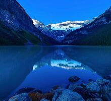 Night or Light? Before Dawn, Lake Louise Alberta Canada by bevanimage