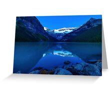 Night or Light? Before Dawn, Lake Louise Alberta Canada Greeting Card